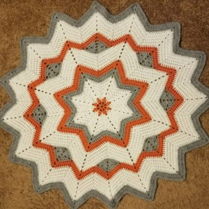 "Handmade ""Sunburst"" Baby Afghan"
