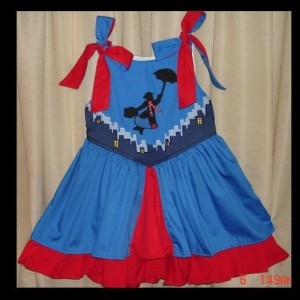 Mary Pop Appliqued Princess Sundress-Sizes 12 months to Girls size 8-Made to Order