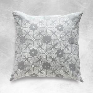 """18"""" Batik Pillow Cover, Grey Pillows, BOHO Pillows, Grey Pillow Cover, Sofa Pillow, Batik Decorative Pillow, BOHO Pillow Case, Asian Pillow"""