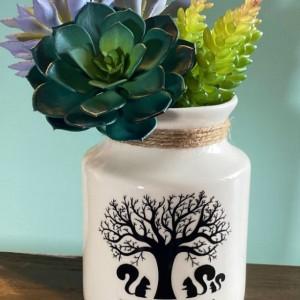Squirrel Family Vase