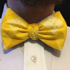 Blue floral  bow ties for men, yellow plaid bow ties, reversible bow tie, wedding ties, groomsmen ties, self tie bow tie, blue ties, yellow