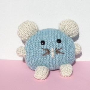 Hand Knitted Alpaca Mouse, Knitted Blue Toy, Alpaca Toy, Toy Mouse, Wool Baby Toy, Plush Toy, Soft Baby Toy, Ready to Ship, Baby Shower Gift
