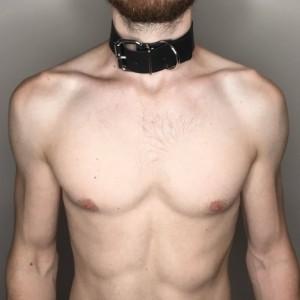 """Large O-Ring Choker Collar 1.5"""""""