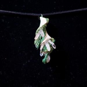 Mermaid seashell pendant