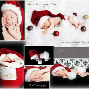 Newborn Christmas outfit - baby Christmas hat and diaper cover - baby photo prop - Christmas hat for babies - babys first Christmas