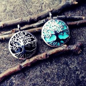 Set of Silver Tree of Life Lockets