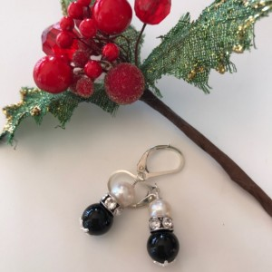 Ebony & Ivory Earrings