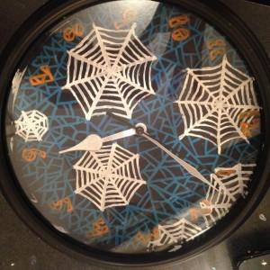 Spider Web Clock