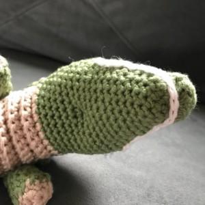 amigurumi Crocheted plush alligator, crocodile, bedtime, sensory handmade