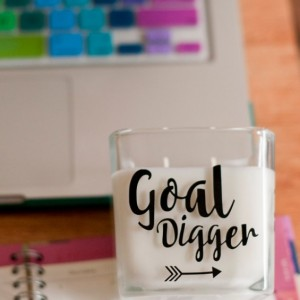 Goal Digger Scented Candle, Gift for Her, Motivational Gift, Home Office Decor, Office Decor, Home Decor, Scented Candle, Entrepreneur Gift