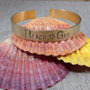 Beach Girl | Sister Gift | Promotion Gift | Friend Gift | Personalized | Beach Girl Hand Stamped Cuff Bracelet