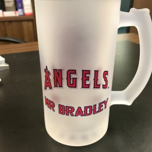 Custom Made Anaheim Angels Frosted Beer Stein 16 oz Glass Mug