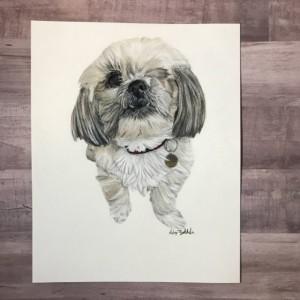 Custom Dog Portrait (8x10), Dog Portrait, Dog Portrait Custom, Custom Pet Portrait, Pet Portrait, Pet Portrait Custom