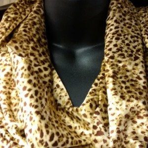 Animal Print Infinity Scarf - Satin Finish