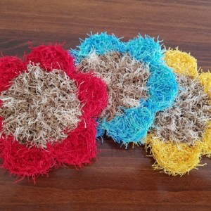 Flower-Shaped Dishcloth Set (Set of 3)