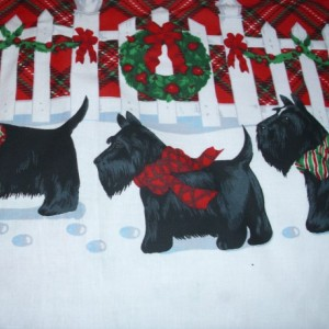 NEW Handmade Daisy Kingdom Scottie Dogs Christmas Border Dress 12M-14Yrs Sale