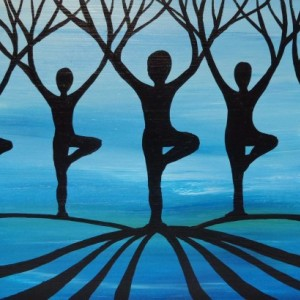 """Designer Yoga Forest 3"" original painting"