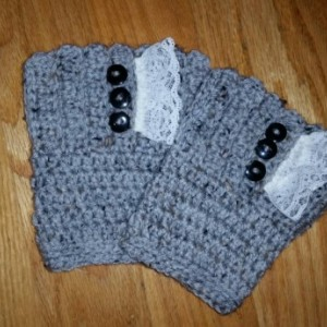 Vintage Feel Textured  Boot Cuffs