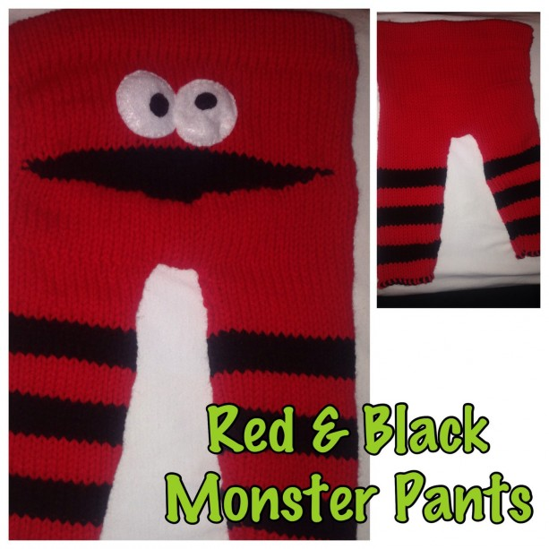 Red & Black Monster Pants