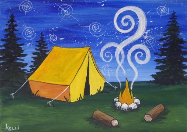 """Camping 2"" original painting"