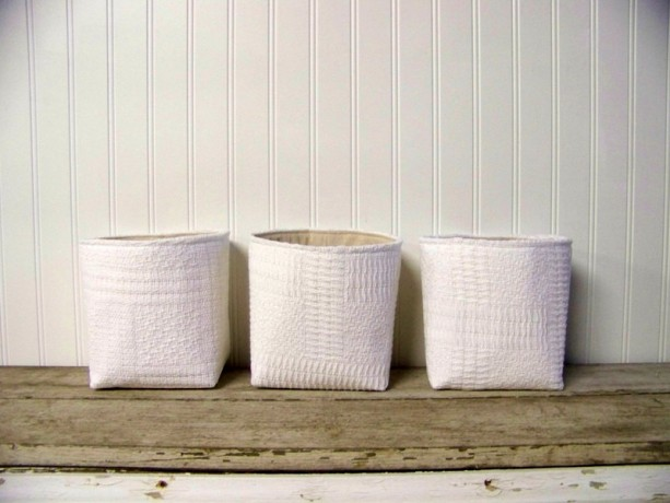 Set of 3 Vintage Blanket Baskets