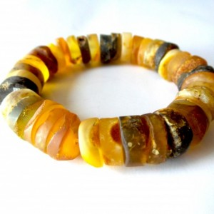 Natural ,Baltic Amber Bracelet ,   Modern Jewelry .