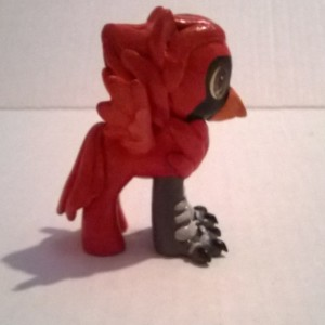 Custom OOAK My Little Pony Toy Figure: Crispin the Cardinal