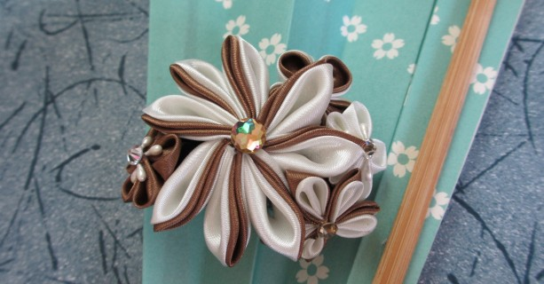 Cafe Latte Kanzashi