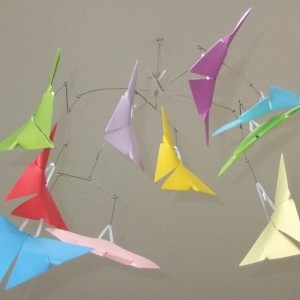 Rainbow Origami Butterfly Mobile, Baby Mobile, Butterfly Mobile, Crib Mobile, Nursery Decor, Butterfly Decor, Origami Butterflies, Kids Room