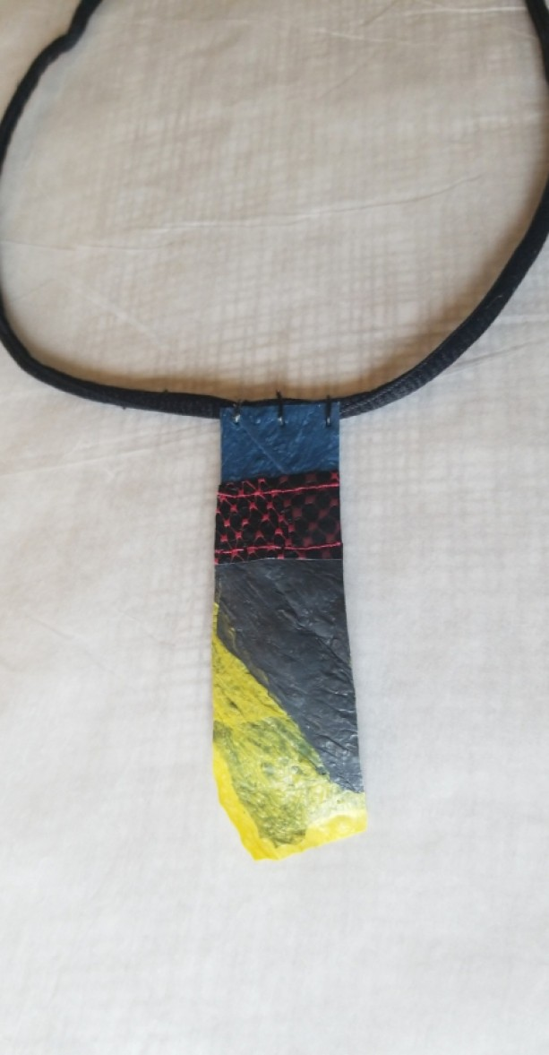 Fused Tie Necklace