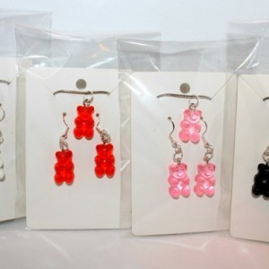 Colorful Gummy Bear Necklace and Earring Set