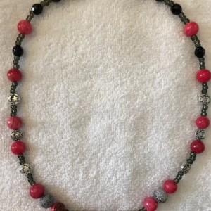 "Celestial Subversion handmade beaded necklace 20"" long"