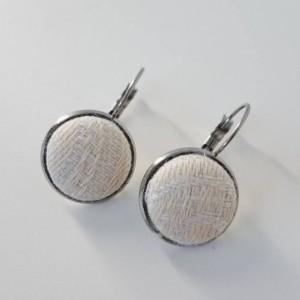 Wrap Scrap Jewelry - Earrings - Tekhni - Galene Arctica - Wrap Scrap - Babywearing - Stainless Steel - Spirals - White