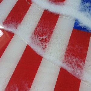 Hand crafted American Flag ocean art