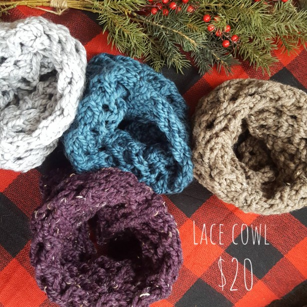 Big Lace Handmade Knitted Cowl