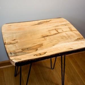 Natural Edge, Live Edge Ambrosia Maple End Table