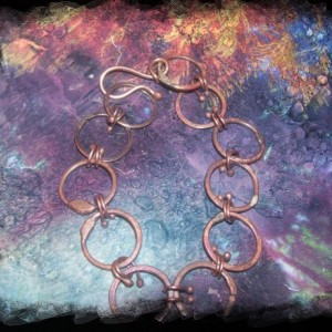 Hand forged Small Rustic Links Bracelet