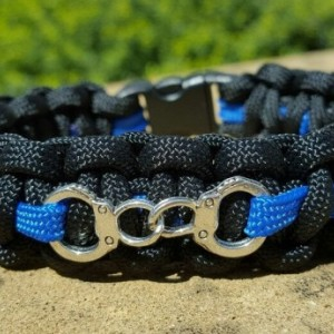 Police Handcuff orThin Blue Line Paracord Bracelet, Law Enforcement, Policeman, Police Officer Bracelet, Public Service