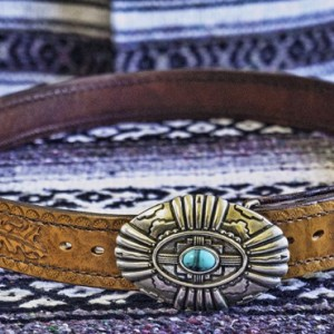 Southwest Style Leather Belt