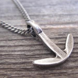 Men's Necklace - Men Anchor Necklace - Men Silver Necklace - Men's Jewelry - Men's Gift - Men Jewelry - Men Necklace - Sailor Gift - Guys