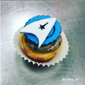 Star Trek cupcake toppers