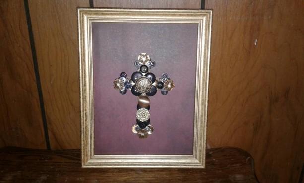 Cross button art