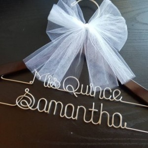 2 Line-. sweet sixteen Hanger, Name Hanger,mis quince Hanger,Personalized Hanger, 16th birthday gift, Party gift