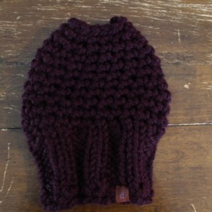 Dark Purple Bun Hole Hat, size small