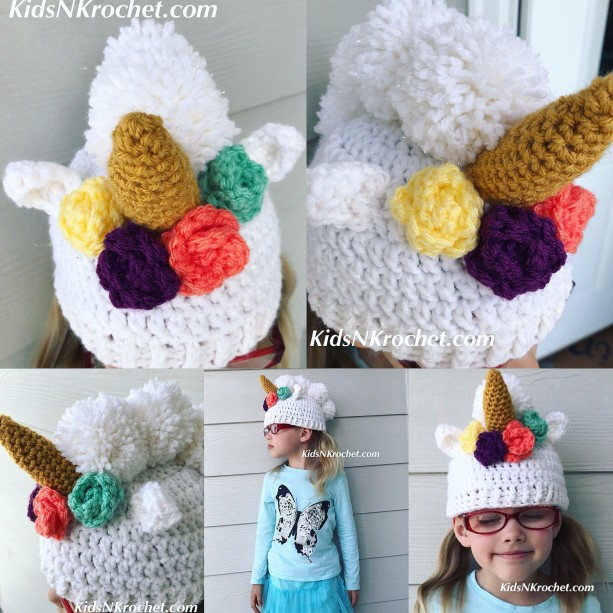 Unicorn hat, dress up, winter hat you choose size
