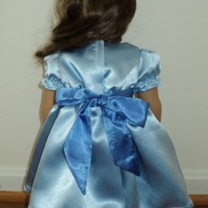 NEW Handmade Peter Pan Wendy Blue Satin 2pc Dress Set 4 American Girl Doll