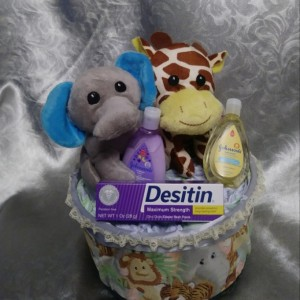 Safari tub diaper creation