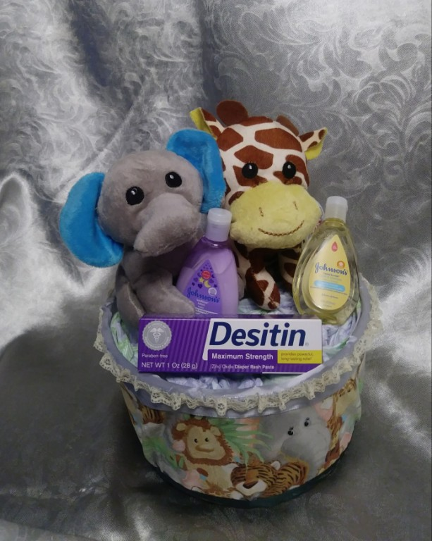 Safari tub diaper creation
