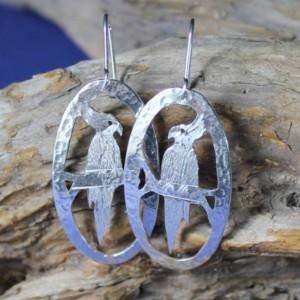 Sterling Silver Cockatiel Earwire or Post Earrings