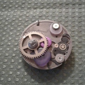 Steampunk Button Pendant